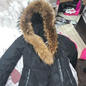 2018 Mackage Jacket black with brown fur